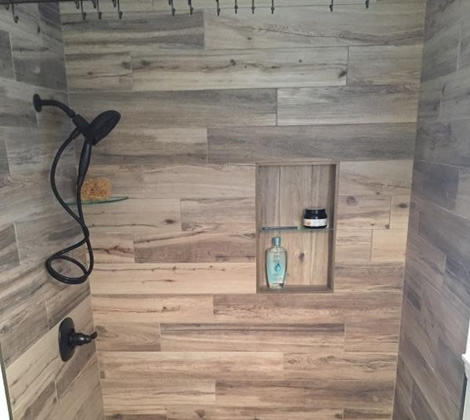 Shower Tile Tile By Joey. Wood Look ... - Wood Look Tile Shower WB Designs